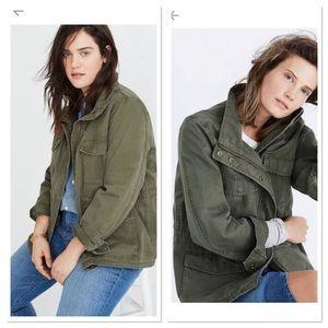 Lucky Brand Girlfriend Utility Jacket Military
